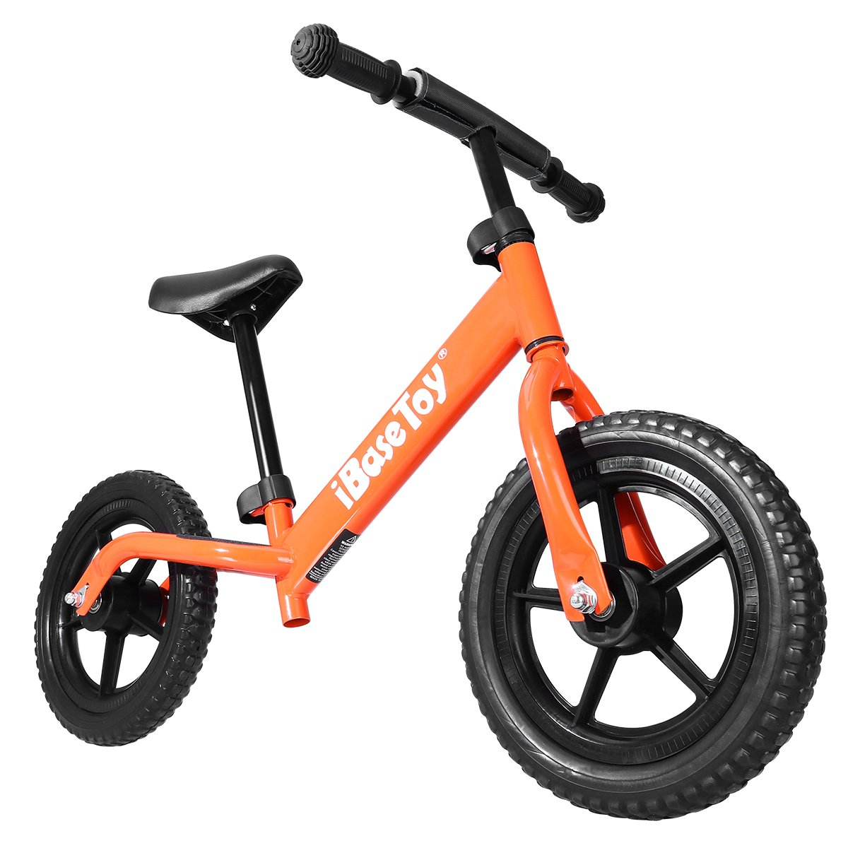iBaseToy Balance Bike, No Pedal Balancing Toddler Bike with Adjustable Seat and Handlebars, Lightweight Stride Walking Bicycle for Kids, Ages 2 to 6 Years