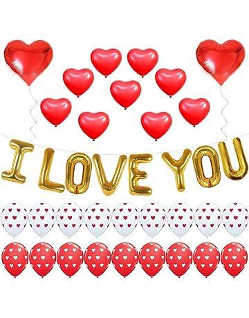 Día de San Valentín grandes corazones rojos /& blancos de 3 pies Gigante Látex Globos Qualatex X 2