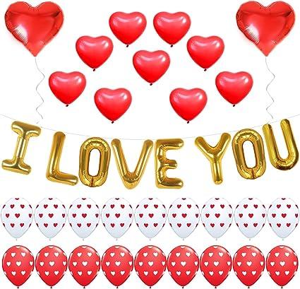 Toda la llama Amor Por Ti Corazón llama Globo amor romántico Día De San Valentín Decoración