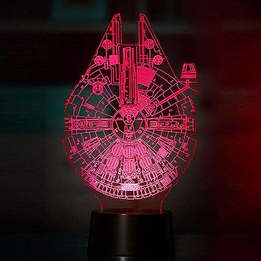 Mangopie Millennium Falcon Night Light,Lámpara 3D Star Wars ...