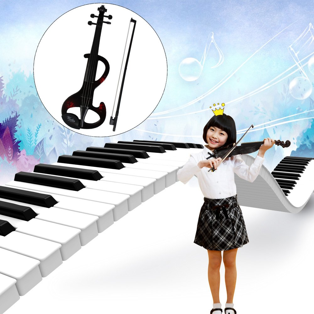 Violin Toys for Kids, Mini Electric Fiddle Instruments with Keyboard Stick Accessories, Popular Preschool Musical Real Virtuoso Model for Girls Boys, Wonderful Gift for Baby Birthday coffled