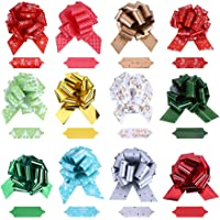 CCINEE Christmas Pull Bows Large Gift Bows Ribbon for Xmas Present Gift Wrapping, Christmas Decorations, Florist-12