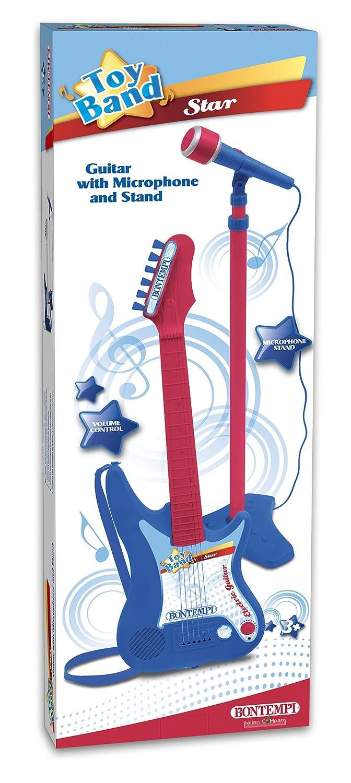 Bontempi - Guitarra eléctrica con Amplificador y micrófono con Soporte (Spanish Business Option Tradding 24 7540): Amazon.es: Juguetes y juegos