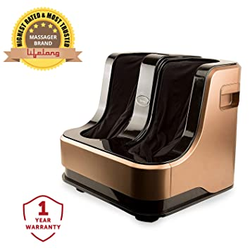 Lifelong LLM135 Foot, Calf and Leg Massager (Brown) Electric Foot Massagers at amazon
