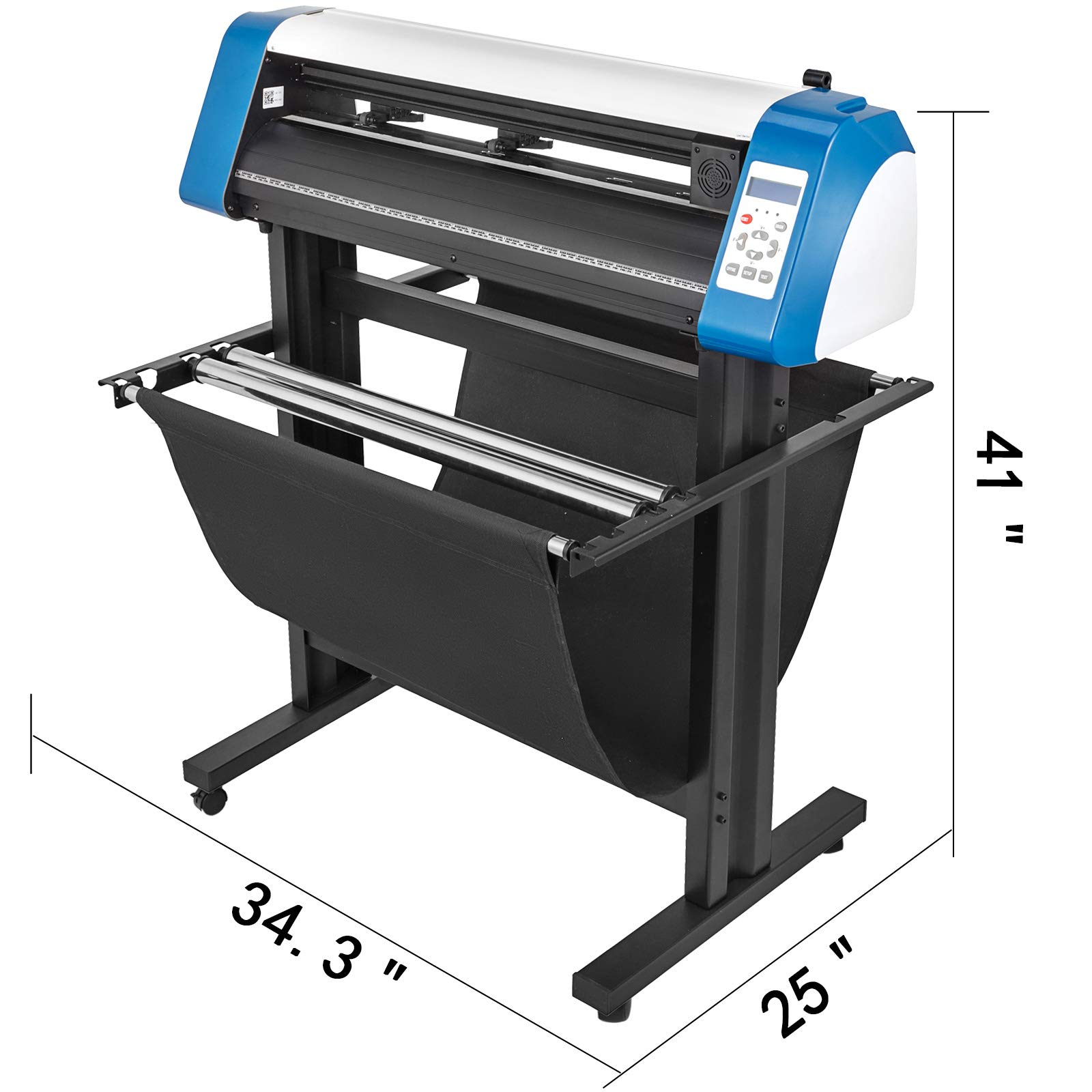 VEVOR Vinyl Cutter 28 inch Vinyl Cutter Machine Semi-Automatic DIY Vinyl Printer Cutter Machine Manual Positioning Sign Cutting with Floor Stand Signmaster Software by VEVOR (Image #2)