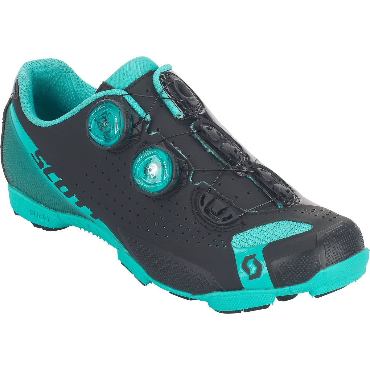 スコットMTB RC Lady Shoe – Women 's B075LWGWP1 42 M EU|Matt Black/Aqua Blue Matt Black/Aqua Blue 42 M EU