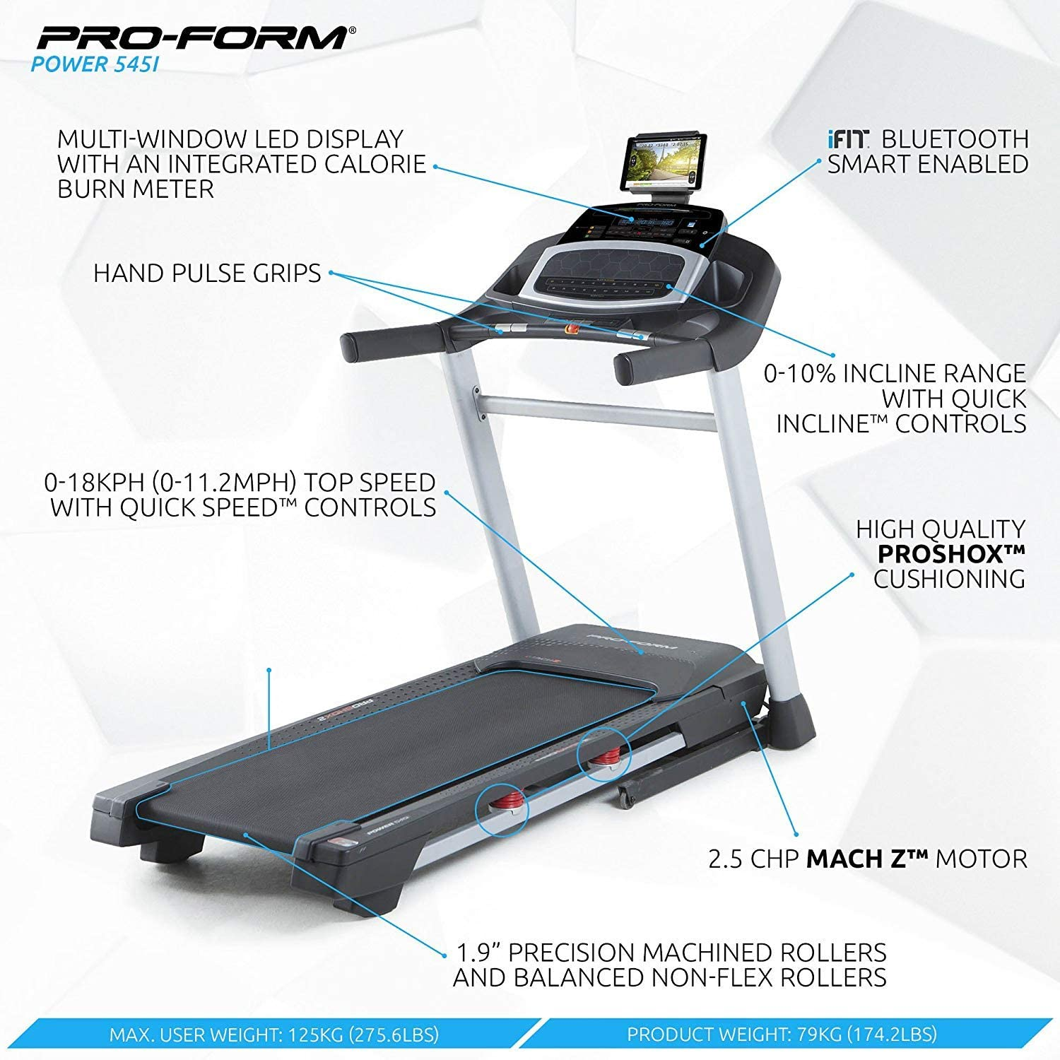 ProForm - Cinta De Correr Power 545I: Amazon.es: Deportes y aire libre