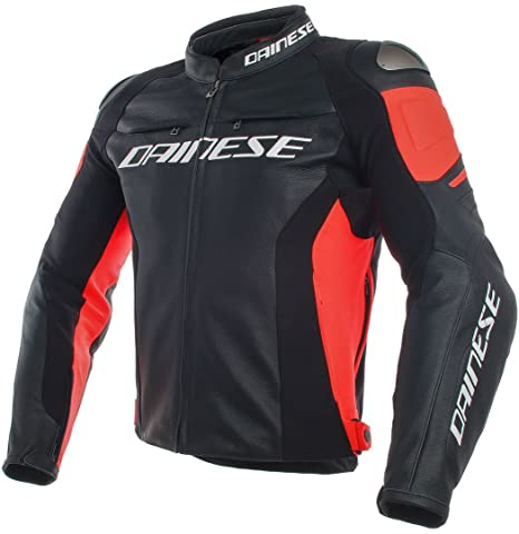 Dainese Racing 3 Leather Jacket (48) (WHITE/BLACK/RED)