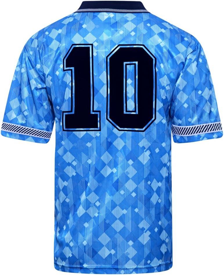 Official Retro England 1990 World Cup Finals Third No10 Shirt 100/% POLYESTER