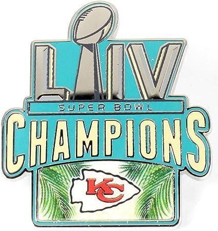 aminco Kansas City Chiefs 2019 Super Bowl LIV 54 Champions Lapel Pin