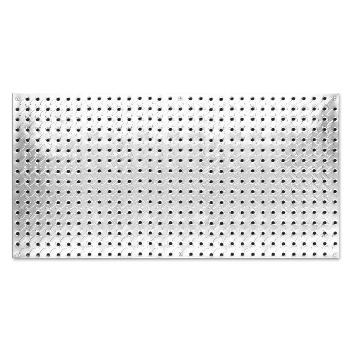 Knape & Vogt John Sterling Heavyweight Diamond Plate Steel Pegboard, 16 by 32-Inch