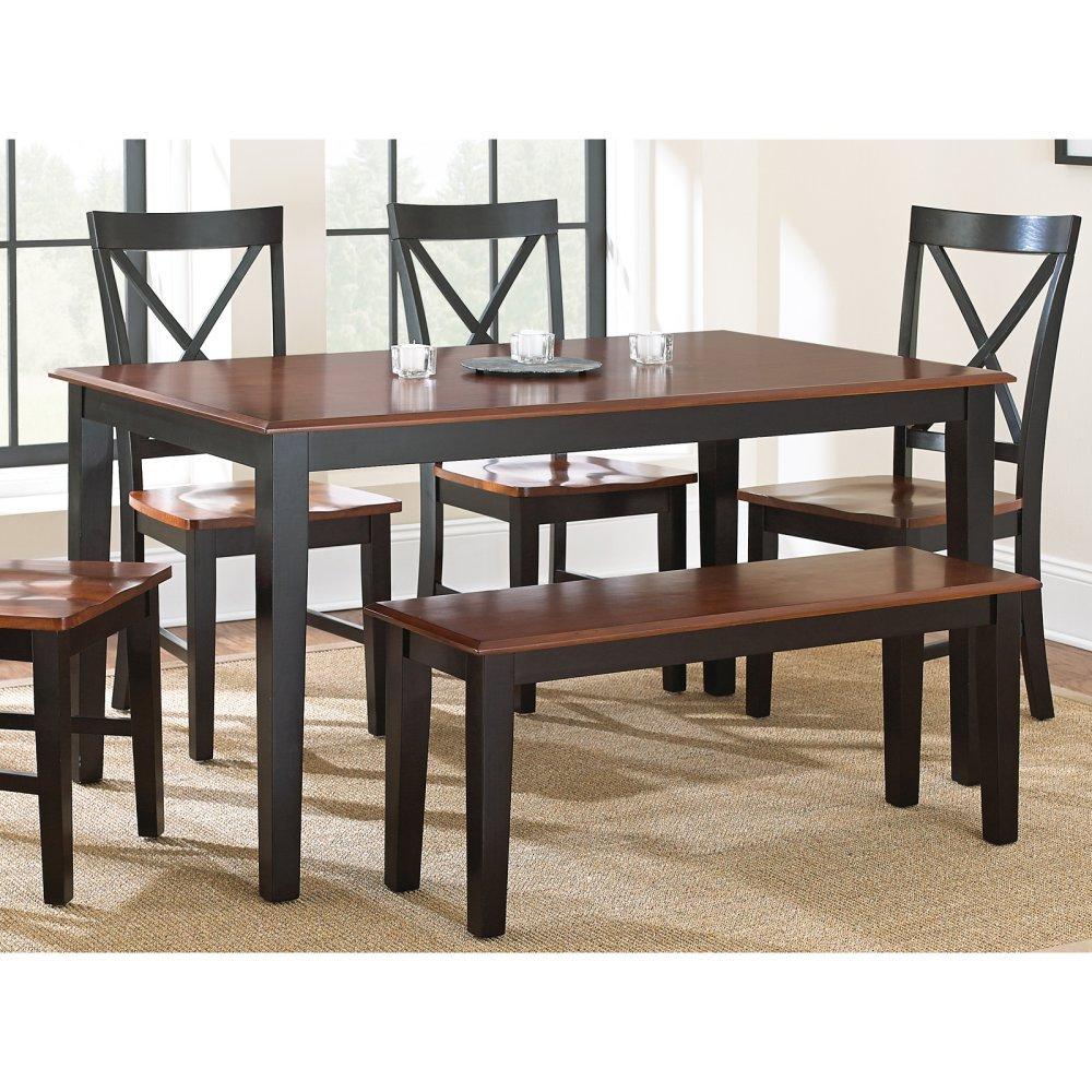 Amazon Steve Silver pany Kingston Dining Table Oak Black