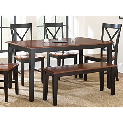 Steve Silver Dining Table In Oak And Black Finish