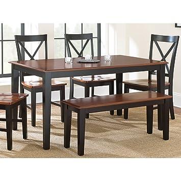 Steve Silver Company Kingston Dining Table, Oak/Black, 36\