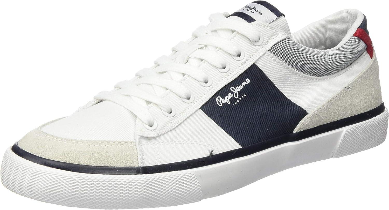 Pepe Jeans Men S Kenton Sport Trainers White Size 8 Uk Amazon Co Uk Shoes Bags