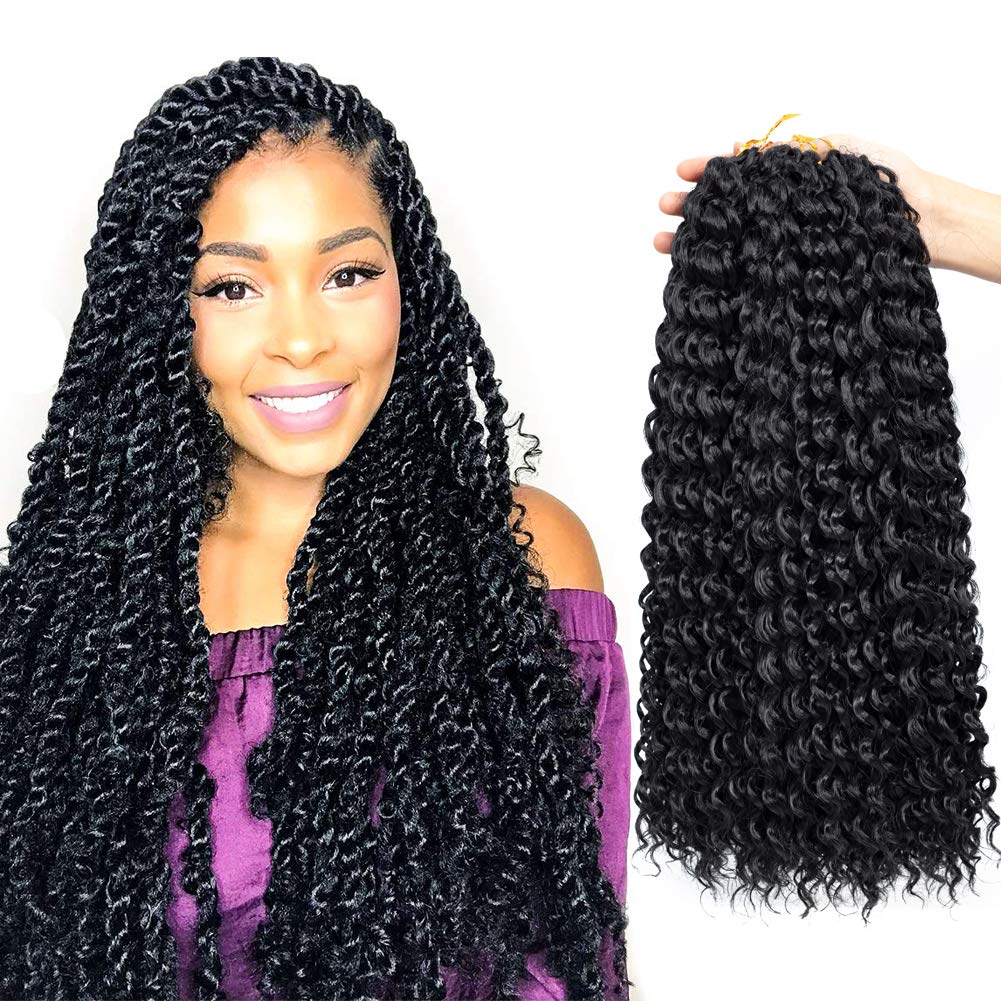 Amazoncom Passion Twist Hair 18 Inch Water Wave Crochet Braids 6