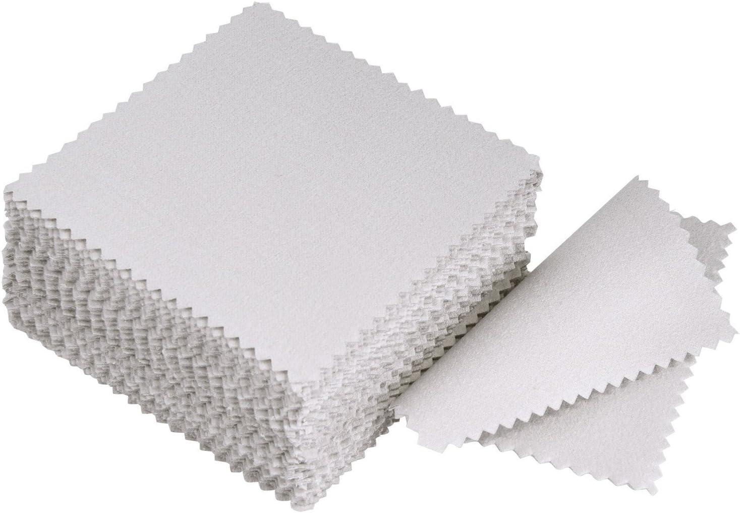 Paño de Limpieza de Joyería Paño de Pulido para Plata Esterlina Oro Platino, 50 Piezas