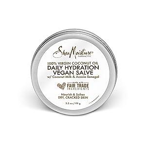 SheaMoisture 100% virgin coconut oil daily hydration dry skin vegan salve moisturizer, 3.5 Ounce