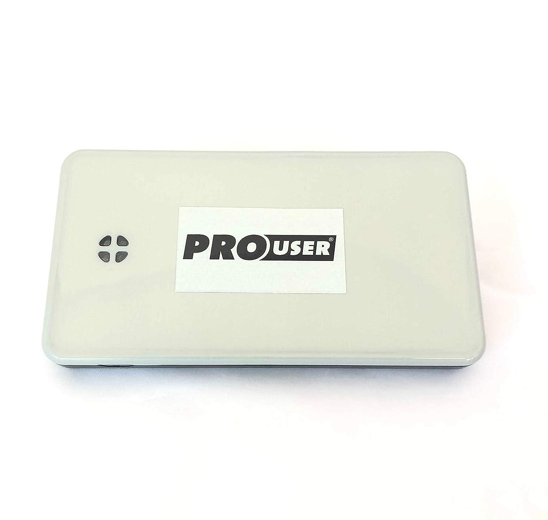 Pro-User Booster Batterie 300A 6000mA Aide au d/émarrage jusqu/à 2500cc