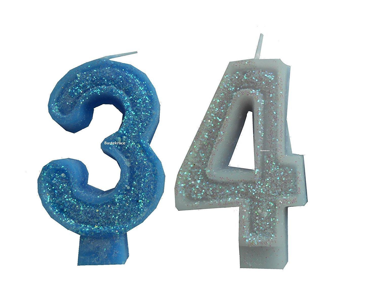 '2pieza Cumpleaños vela con la