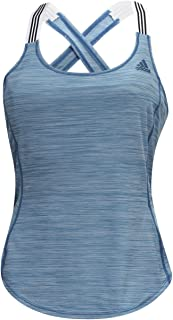 adidas Sport Performance Women's Performer Strap Tank Top, Real Teal, M