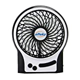 Amazon Price History for:Efluky Mini USB 3 Speeds Rechargeable Portable Table Fan, 4.5-Inch, Black