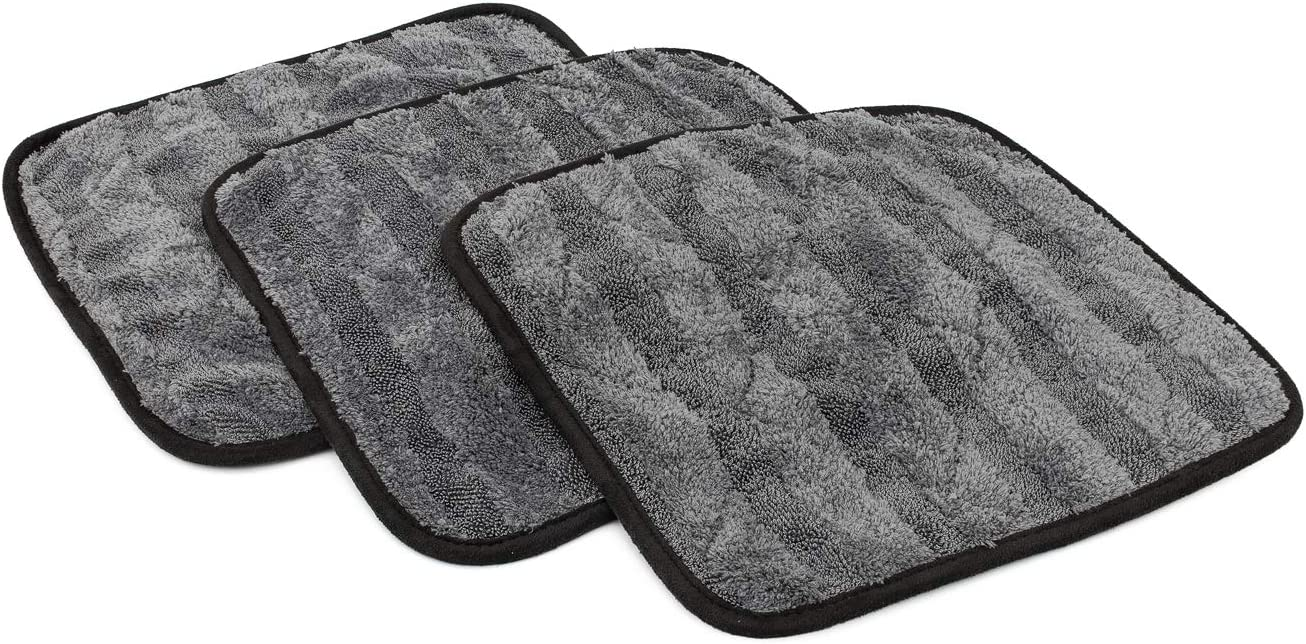 2-Pack The Gauntlet Microfiber Drying Towel Grey 15in x 24in The Rag Company