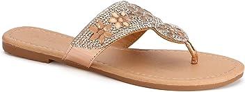 bdf11d221 Olivia Miller  Deland  Multi Floral Rhinestone Sandals