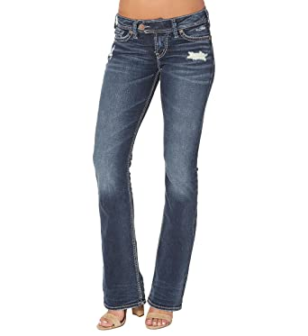 Amazon.com: Silver Jeans Co. Women's Tuesday Low-Rise Bootcut ...