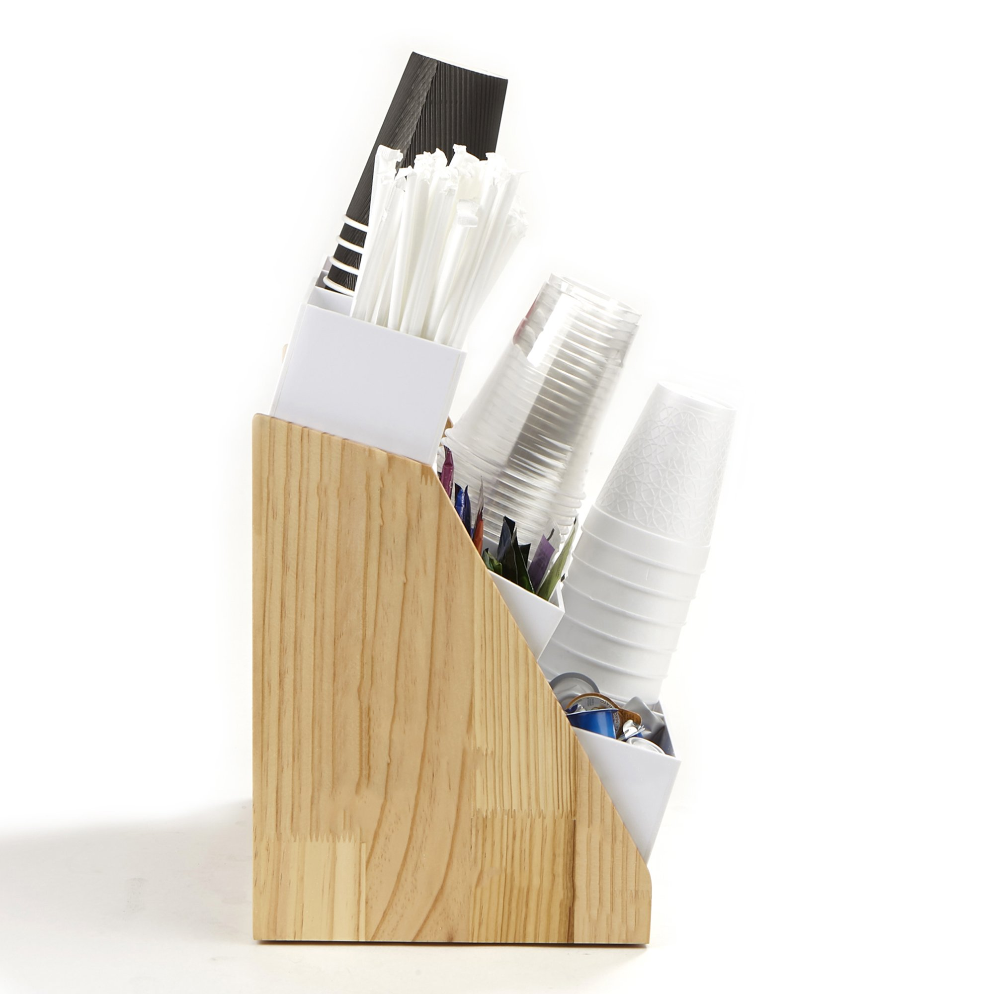 Mind Reader Condiment and Accessories Organizer, 9 Compartments, Wood by Mind Reader (Image #6)