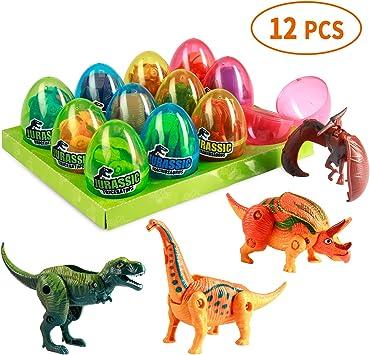 Amazon.com: Monilon - Juguetes de dinosaurio, 12 unidades ...
