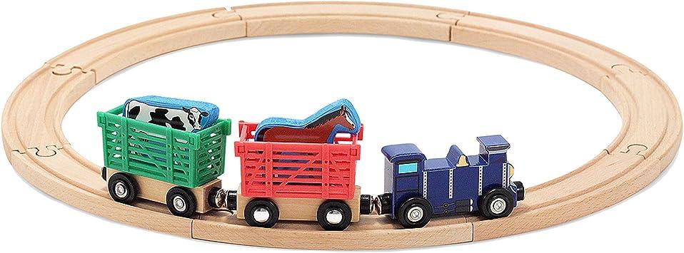 Amazon Com Melissa Doug Farm Animal Train Set Melissa Doug Toys Games