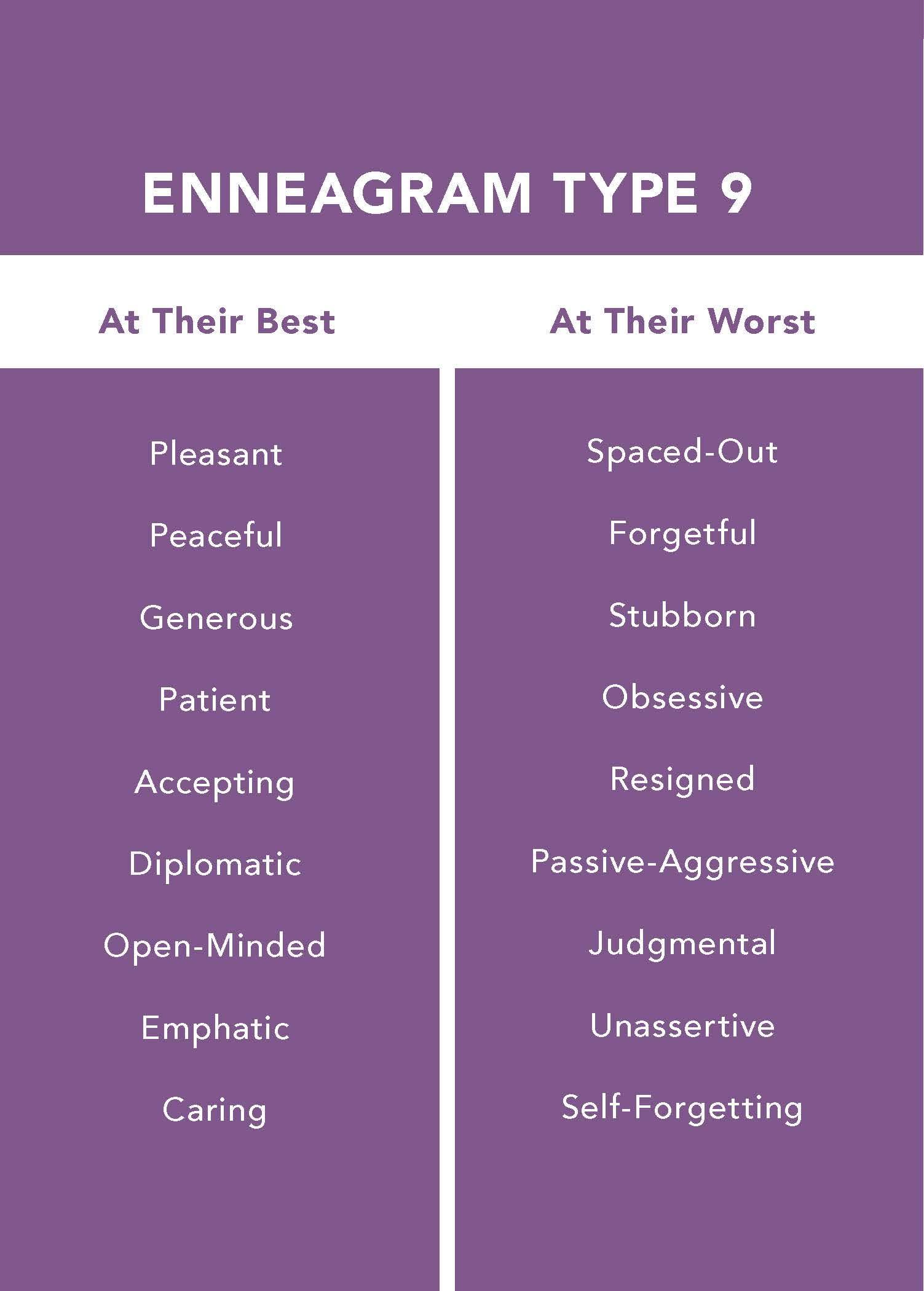 The Enneagram Type 9: The Peaceful Mediator (The Enneagram ...