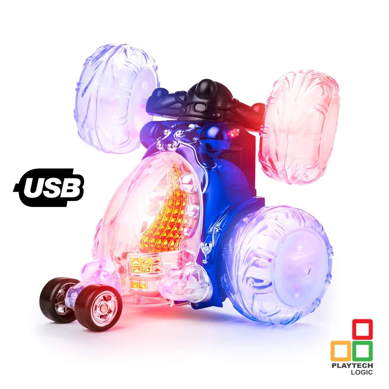 Playtech Logic Offizielles Lizenzprodukt Invincible Tornado 360 Fernbedienung Licht Kinder mit Sound On/Off, wiederaufladbar, Turbo Twister Racing RC Stunt Cars Jungen Mädchen Spielzeug, zufällige Farbe zufällige Farbe .