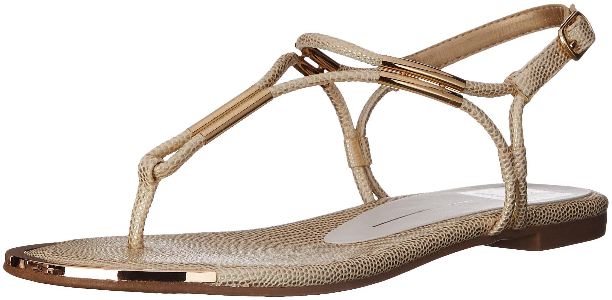 Dolce Vita Women's Marly Flat Sandal,Platinum,8 B(M) US