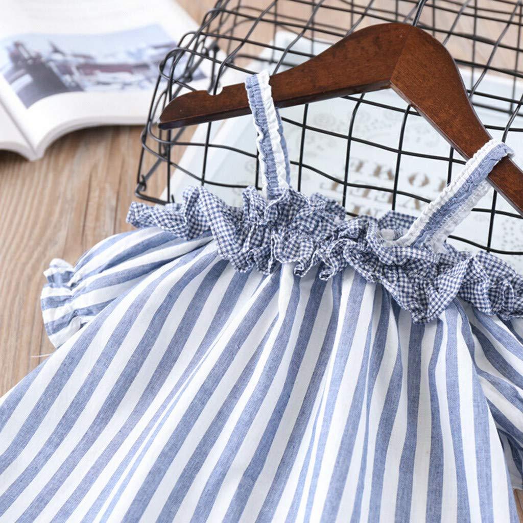 Alwayswin Kleinkind Kinder Outfits Baby M/ädchen Kleidung Stickerei T-Shirt Denim Shorts Jeans Set Sommer Baby Kleidung Freizeit Strand Kleidung Mode Elegant Kleidung Set 2-7 Jahre alt