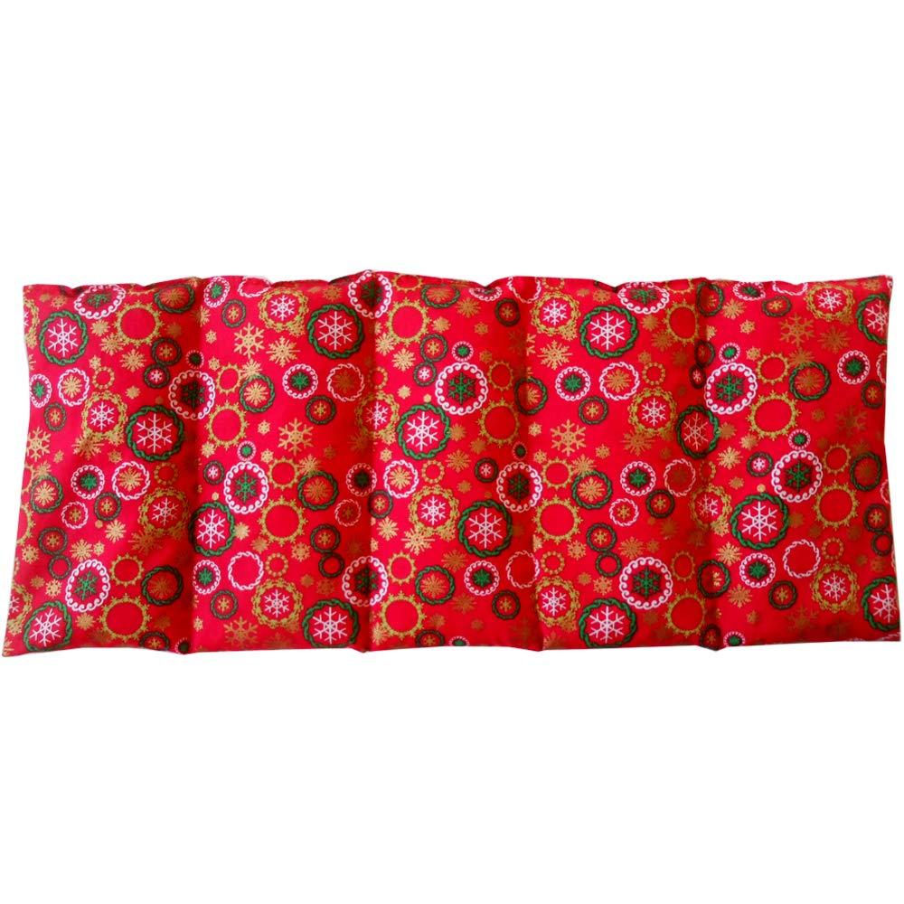 Cuscino termico 'CHRISTMAS' - 50 x 20 cm (XL) - pieno di noccioli di ciliegia 800gr - effetto freddo/caldo . saco termiche