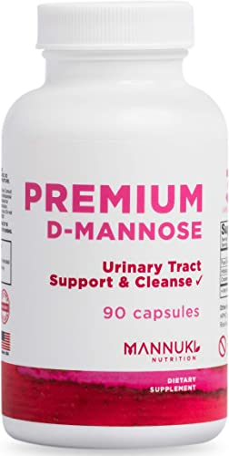 Clean D Mannose Capsules 1,000 mg Urinary Tract Infection Formula no Common Fillers, no Silica, no Magnesium Stearate no Silicon Dioxide-Triple Strength Cranberry Hibiscus – Fast-Acting UTI Support