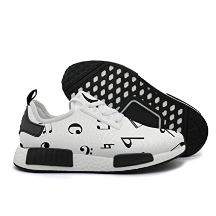 61ec321d3e YHFJYT Breathable Mesh Plate Shoes Musical Notes Pattern Fashion Athletic  Sneakers
