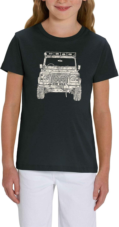 Land Rover Defender Print Childrens Unisex White Slogan T-Shirt