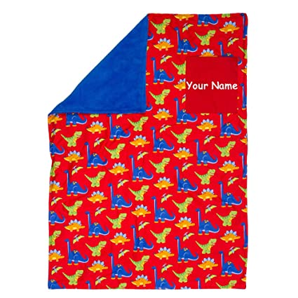 09b43c3b599d Amazon.com: Stephen Joseph Personalized Dinosaur Dino Red and Blue ...