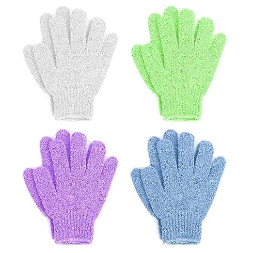 Linda Exfoliating Bath Gloves, Pack of 4