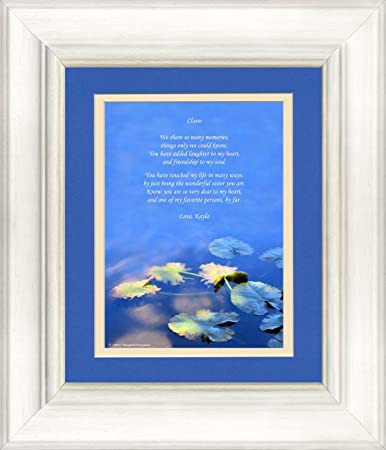 amazon com framed personalized gift for sister with wonderful