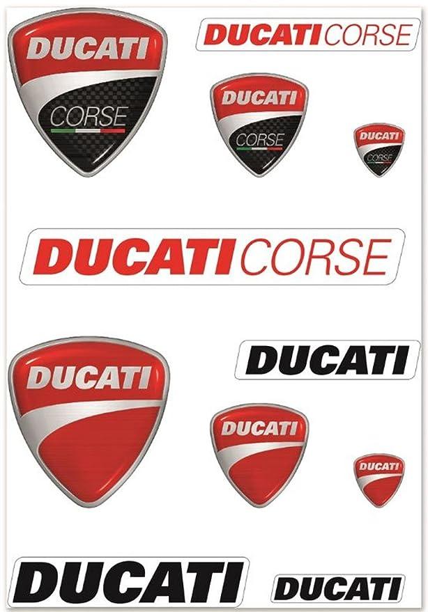 Amazon.com: Ducati Corse & logotipo de la empresa Decal Kit ...