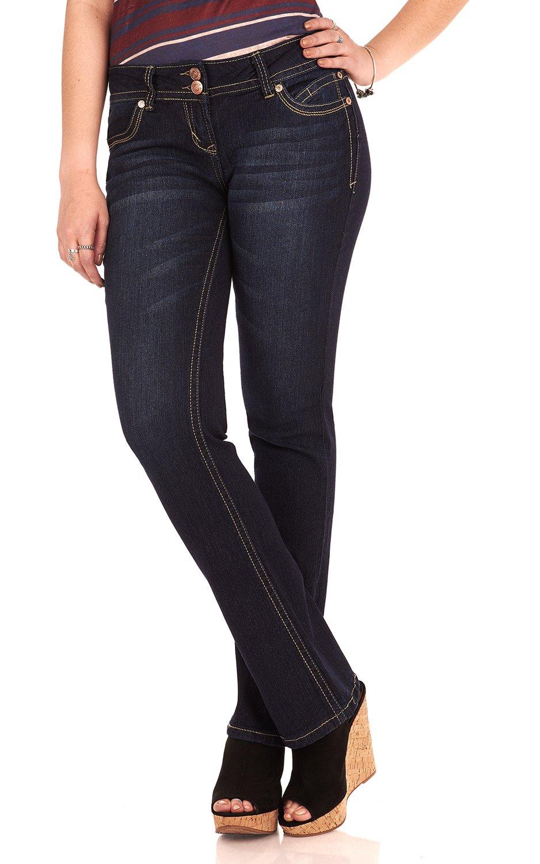 WallFlower Juniors Luscious Curvy Basic Bootcut Jeans in Scarlett Size: 7