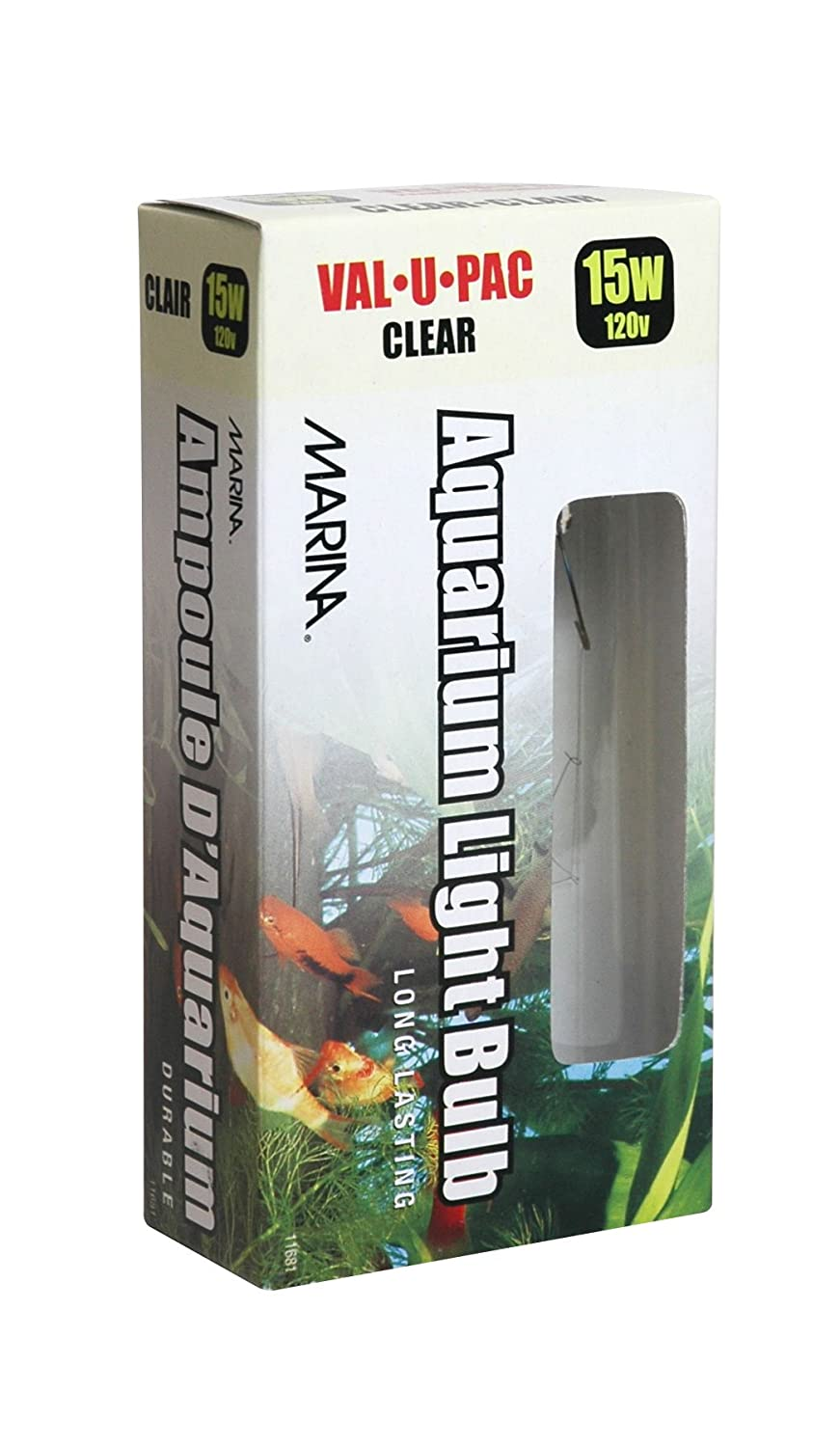 Fish tank lights for sale - Marina 15 Watt Clear Showcase Bulb 2 Pack