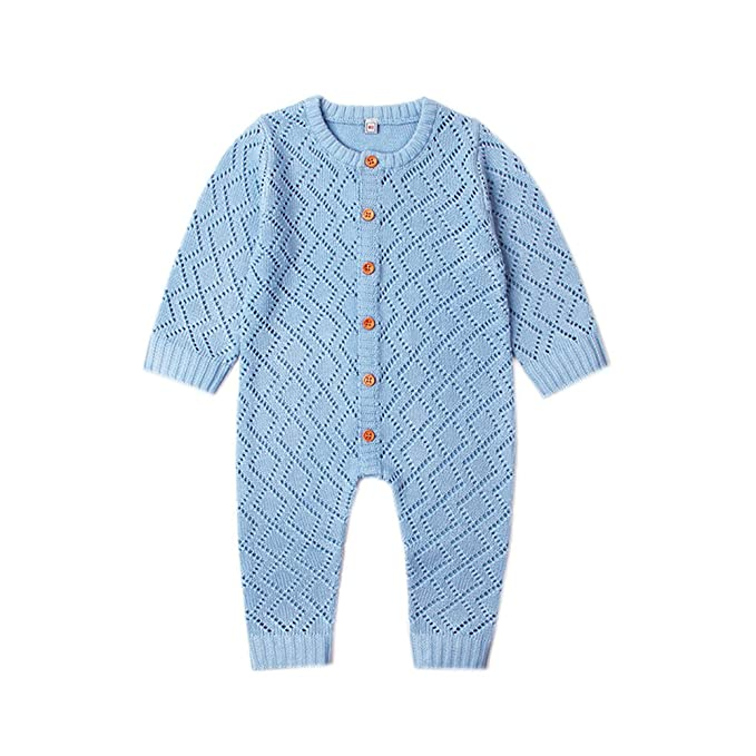 ef36f215f204 Ziyunlong Baby Knit Sweater Romper Newborn Long Sleeve Breathable Jumpsuit  One Piece Overall Infant Baby Winter