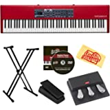 Nord Piano 4 88 Stage Piano Bundle with Stand, Expression Pedal, Austin Bazaar Instructional