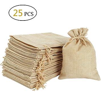 Amazon.com: Bolsas de arpillera con cordón – Bolsas de ...