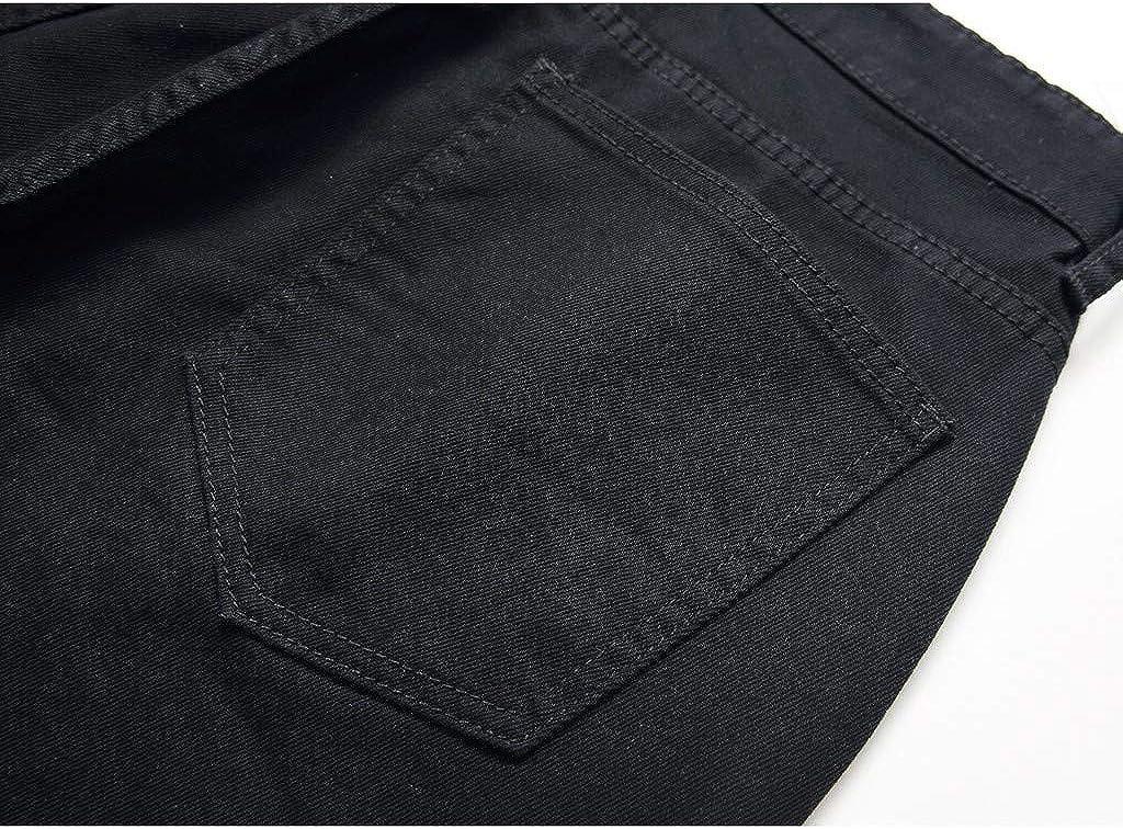 Men Slim Fit Vintage Pencil Denim Jeans Mens Stretch Straight Leg Spring Fashion Jeans Pants